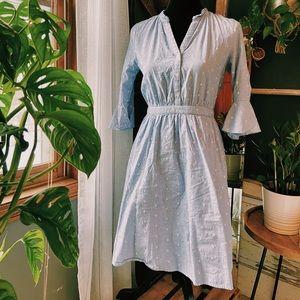 ••Light Blue Dress w/ Half Cut Sleeves
